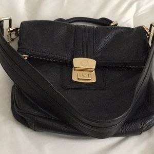 Marc by Marc jacobs black thick leather handbag